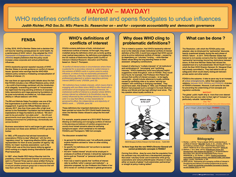 Mayday – Mayday! WHO redefines conflicts of interest and opens floodgates to undue influences